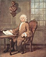 Portrait of Dr. Benjamin Hoadly, c.1738, hogarth