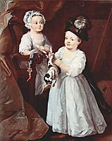 Portrait of Lady Mary Grey and Lord George Grey, 1740, hogarth