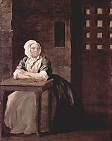 Portrait of Sarah Macholm in Prison, 1733, hogarth