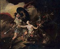 Satan, Sin and Death, 1740, hogarth