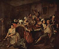 Scene in a tavern, 1735, hogarth