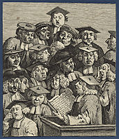 Scholars at a Lecture, hogarth