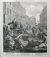 Second stage of cruelty, 1751, hogarth