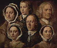 The servants of the painter, hogarth