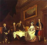 The Strode Family , c.1742, hogarth