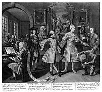 Surrounded by Artists and Professors, hogarth