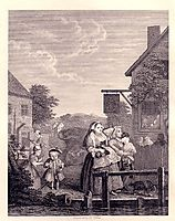 Times of the Day: Evening, hogarth