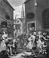 Times of the Day, Noon, 1738, hogarth