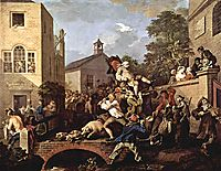 The triumph of Representatives, 1755, hogarth