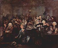 Rake-s Progress- The Gaming House, 1735, hogarth
