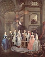 The Wedding of Stephen Beckingham and Mary Cox, c.1729, hogarth
