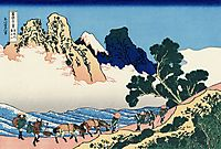 The back of the Fuji from the Minobu river, hokusai