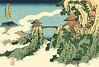 Bridge in the Clouds, hokusai