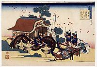 The Bullock Cart, 1839, hokusai