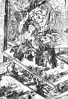 Ōnmyo Imoseyama, 1810, hokusai