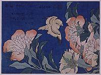 CanaryandPeony, 1834, hokusai