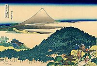 The coast of seven leages in Kamakura, hokusai