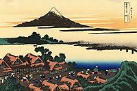Dawn at Isawa in the Kai province, hokusai