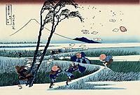 Ejiri in the Suruga province, c.1832, hokusai