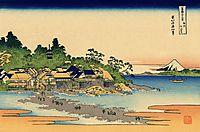 Enoshima in the Sagami province, hokusai