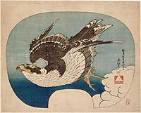 Falcon in flight, hokusai
