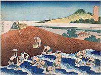 Fishingin theRiverKinu, hokusai