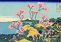 The Fuji from Gotenyama at Shinagawa on the Tokaido, hokusai