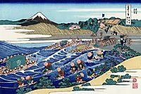 The Fuji from Kanaya on the Tokaido, hokusai