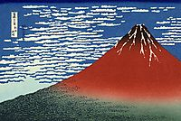 Fuji, Mountains in clear Weather  (Red Fuji), 1831, hokusai