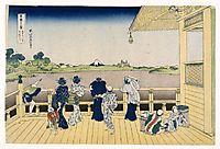 Fuji from the Platform of Sasayedo, hokusai