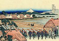 The Fuji seen from the gay quarter in Senju, hokusai