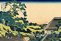 The Fuji seen from the Mishima pass, hokusai