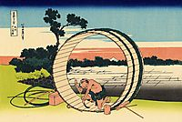 Fujimi Fuji view field in the Owari province, hokusai