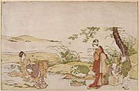 The harvesting of mushrooms, hokusai