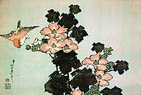 Hibiscus and Sparrow, c.1830, hokusai