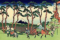 Hodogaya on the Tokaido, hokusai