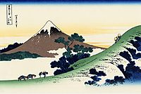 Inume pass in the Kai province, hokusai
