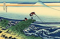 Kajikazawa in Kai Province, hokusai