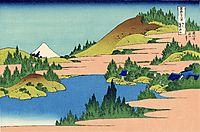 The lake of Hakone in the Segami province, hokusai