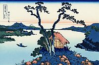 Lake Suwa in the Shinano province, hokusai