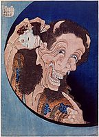 Laughingdemon, 1831, hokusai