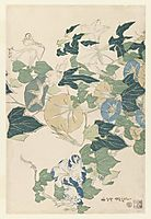 Morning Glories in Flowers and Buds, 1832, hokusai
