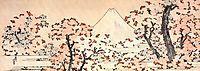 Mount Fuji seen throught cherry blossom, hokusai