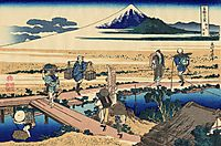 Nakahara in the Sagami province, hokusai