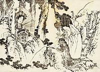 Oiran, a special beautiful courtesan, hokusai