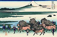 Ono Shindon in the Suraga province, hokusai