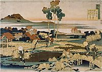 Peasants in autumn, hokusai