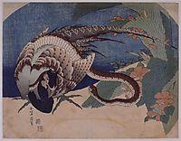 PheasantandSnake, 1833, hokusai