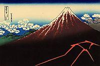 Rainstorm beneath the Summit, c.1821, hokusai
