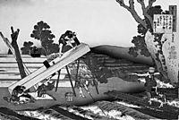 Sawyers Cutting a Log, 1839, hokusai